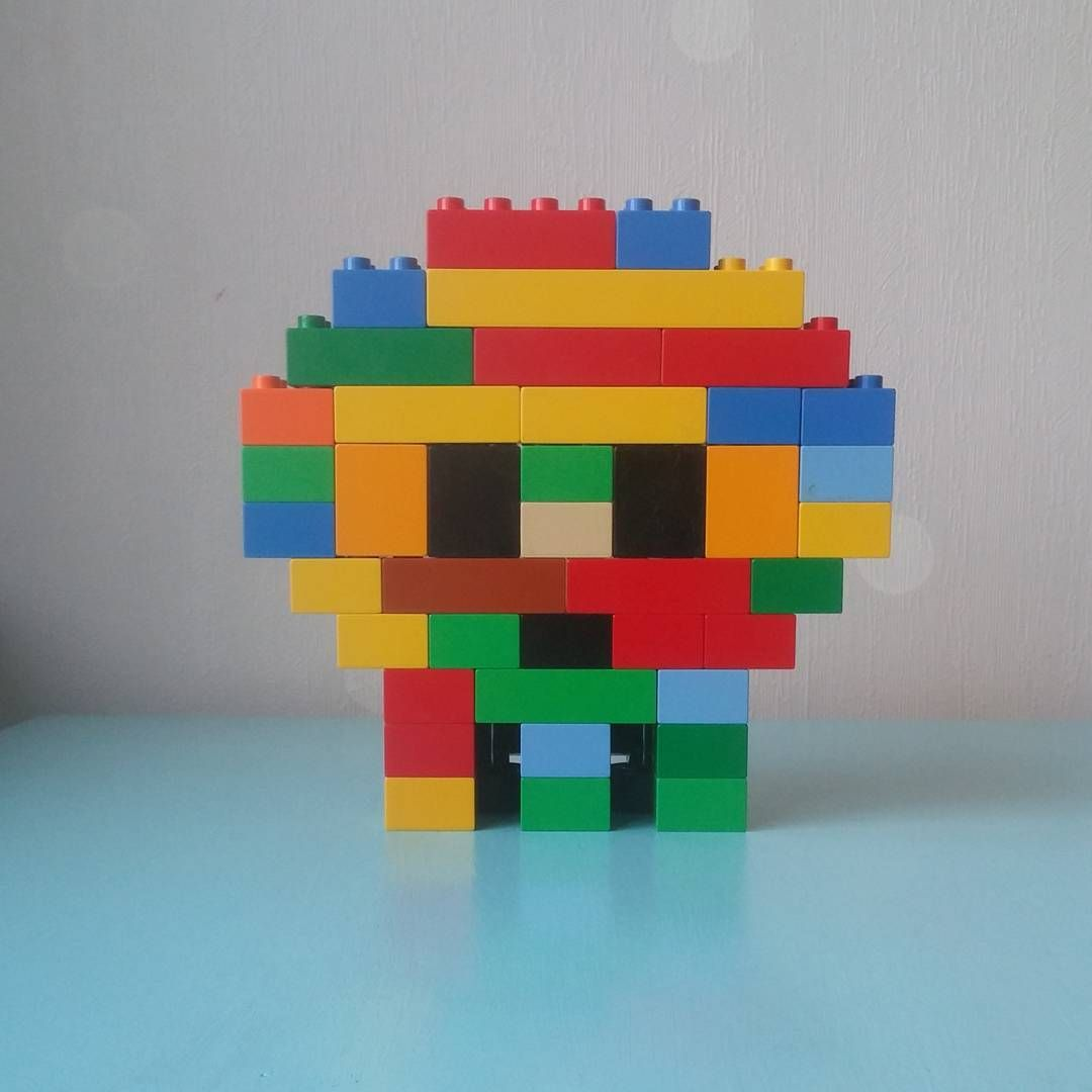 Skull made out of Lego Duplo. Very scary.
