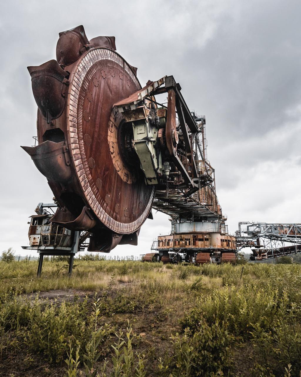 """Abandonedandurbex: """"Abandoned Bucket Wheel Excavator"""
