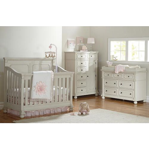 20 Gray And Yellow Nursery Designs With Refreshing Elegance: Truly Scrumptious By Heidi Klum Double Dresser