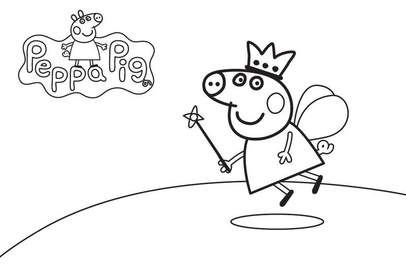Peppa Pig Princess Coloring Pages (Dengan gambar)