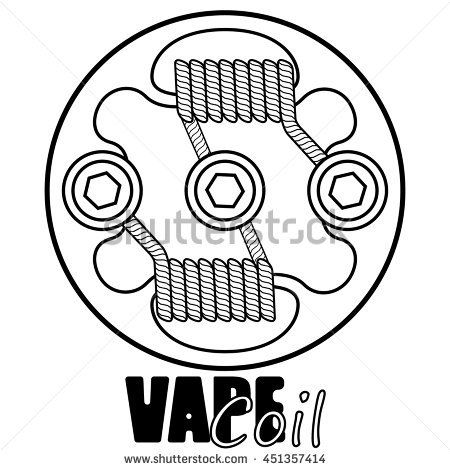 Vape Coil Vector Illustration Of Vape Vape Trend Illustration Of