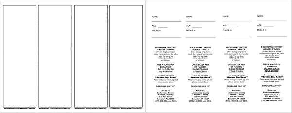 Blank Bookmark Template  Funeral    Bookmark Template