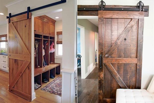 10 ideas para sumar una puerta estilo granero ideas for Puertas interiores antiguas madera
