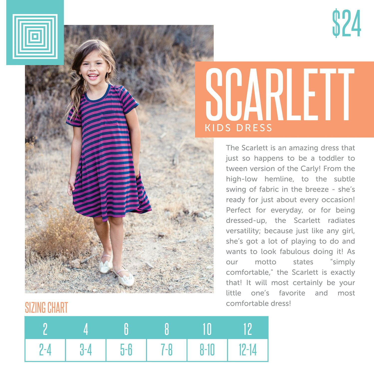 ec402ace7 Kids LuLaRoe Scarlett Dress Size Chart including 2018 updated pricing. # lularoe #lularoeretailer