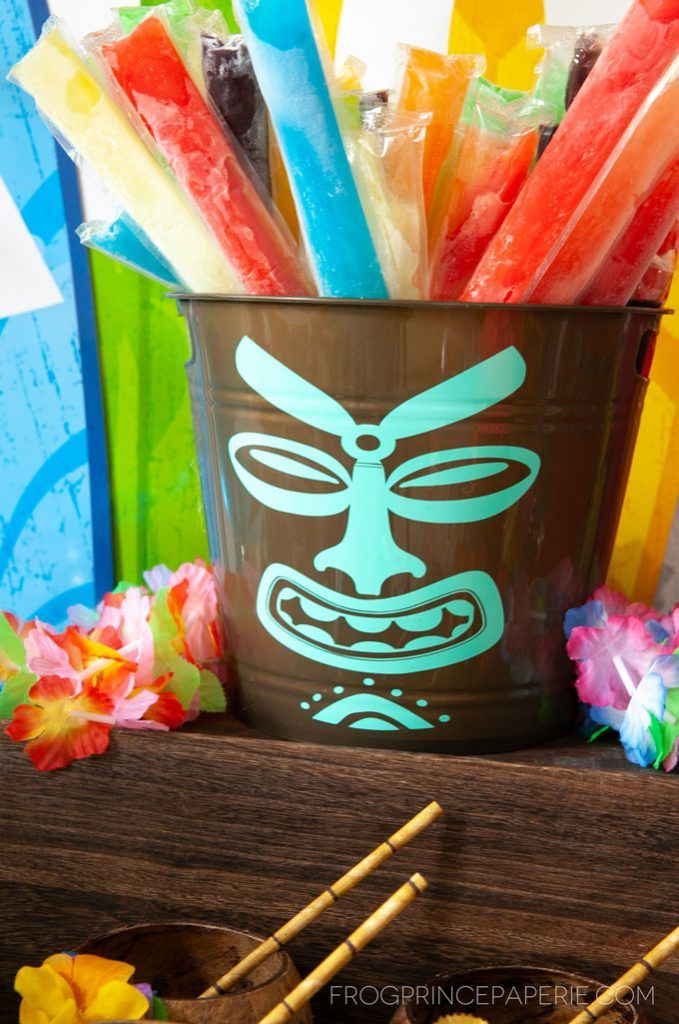 Easy Luau Party Ideas and Tiki Bar Set Up - Frog Prince Paperie