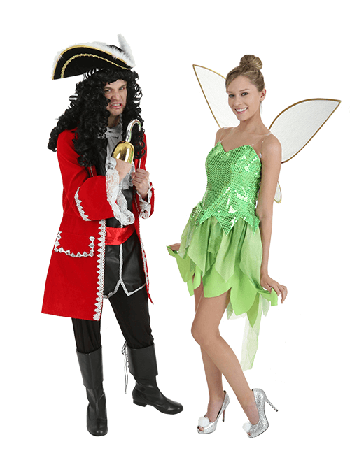 87365c8c7 Captain Hook and Tinkerbell Couples Costumes | Halloween-Costumes ...