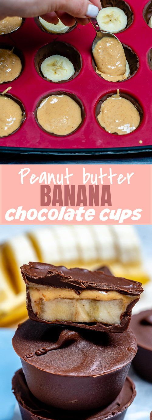 Everyones Gonna LOVE these Chocolate Peanut Butter Banana Cups