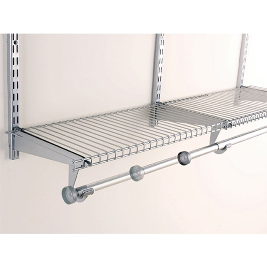 Shop Rubbermaid Homefree Series 4 Ft Adjustable Mount Wire Shelving Kits At Lowes Com Closet Storage Systems Wire Shelving Closet Rod