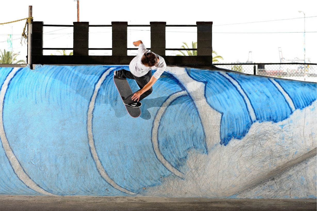 Alex Olson Backside Powerslide Skate And Destroy Photo Skate