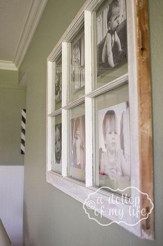 DIY Antique Window Picture Frame Window, Window frames and Window