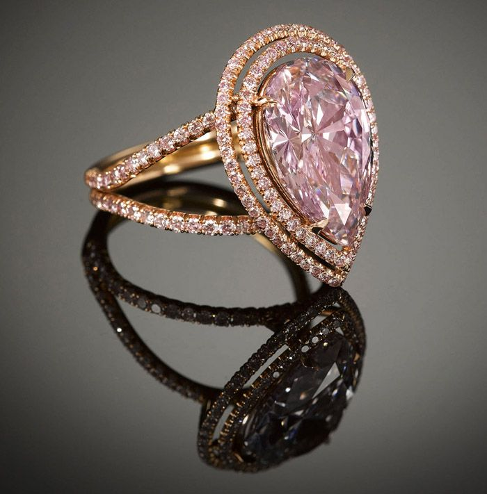The Cassel Pink Diamond - 4.71-carat fancy purple-pink, M.S. Rau http://www.rauantiques.com/about-us/press/rare--exquisite-pink-diamonds-for-sale-at-m-s--rau-antiques-1226.html