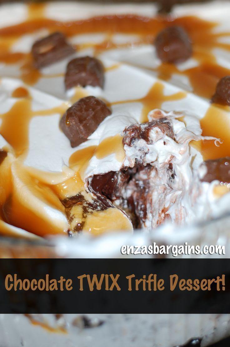 Twix Dessert Chocolate Trifle Dessert Made With TWIX Bites!