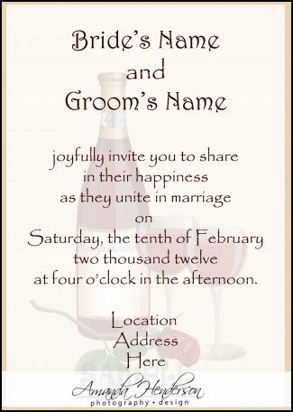 Funny Wedding Invitations Wording Samples | Wedding Ideas ...