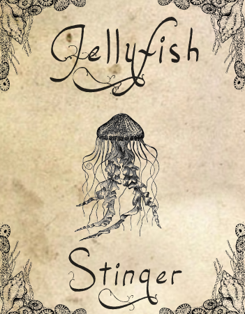 halloween labels jellyfish