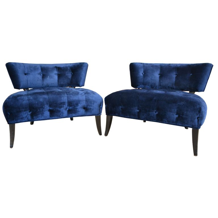 pair of william billy haines slipper chairs for a room when there rh pinterest com William Haines Billy Haines Furniture