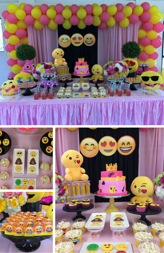 Emoji Party Inspirations Birthday Party Ideas For Kids Girls Emoji Birthday Party Emoji Theme Party Emoji Party Decorations