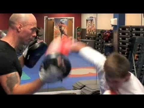 Paul Coaching 13 year old boxer