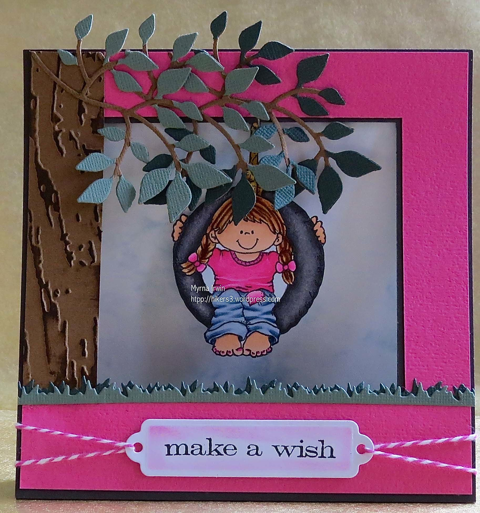 Madyson's Birthday card Swinging Shannon - High Hopes stamp http://hikers3.wordpress.com