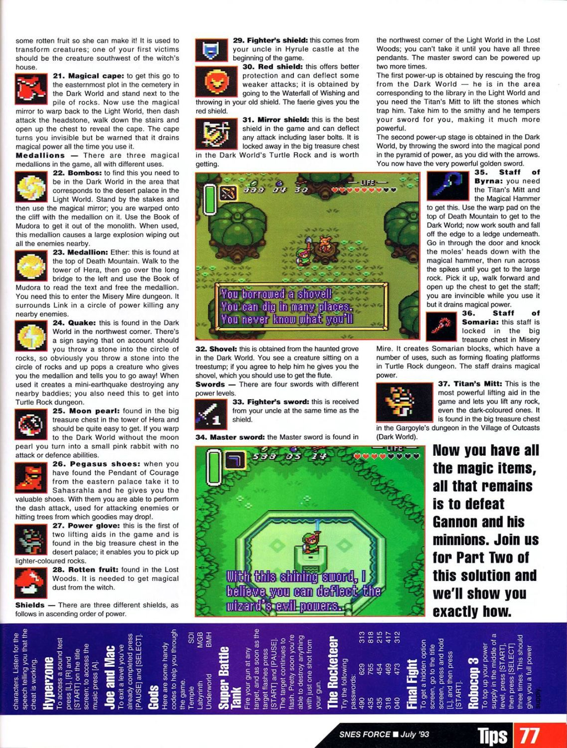 snes force issue 1 july 1993 tloz a link to the past guide part 1 rh pinterest com Scan Card Game Scan Card Game