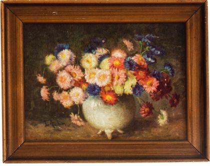 Dova blomstermotiv är vackra på väggen.