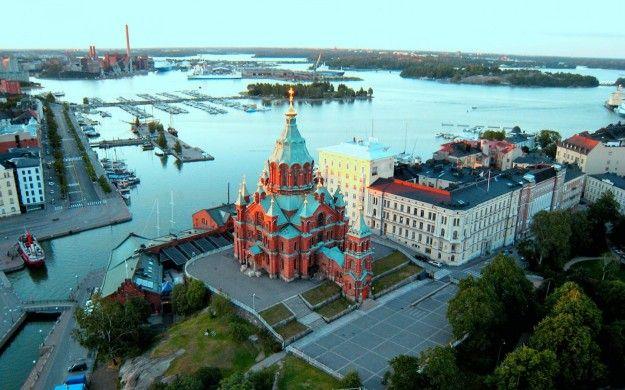 Cattedrale di Uspenski dall alto a Helsinki