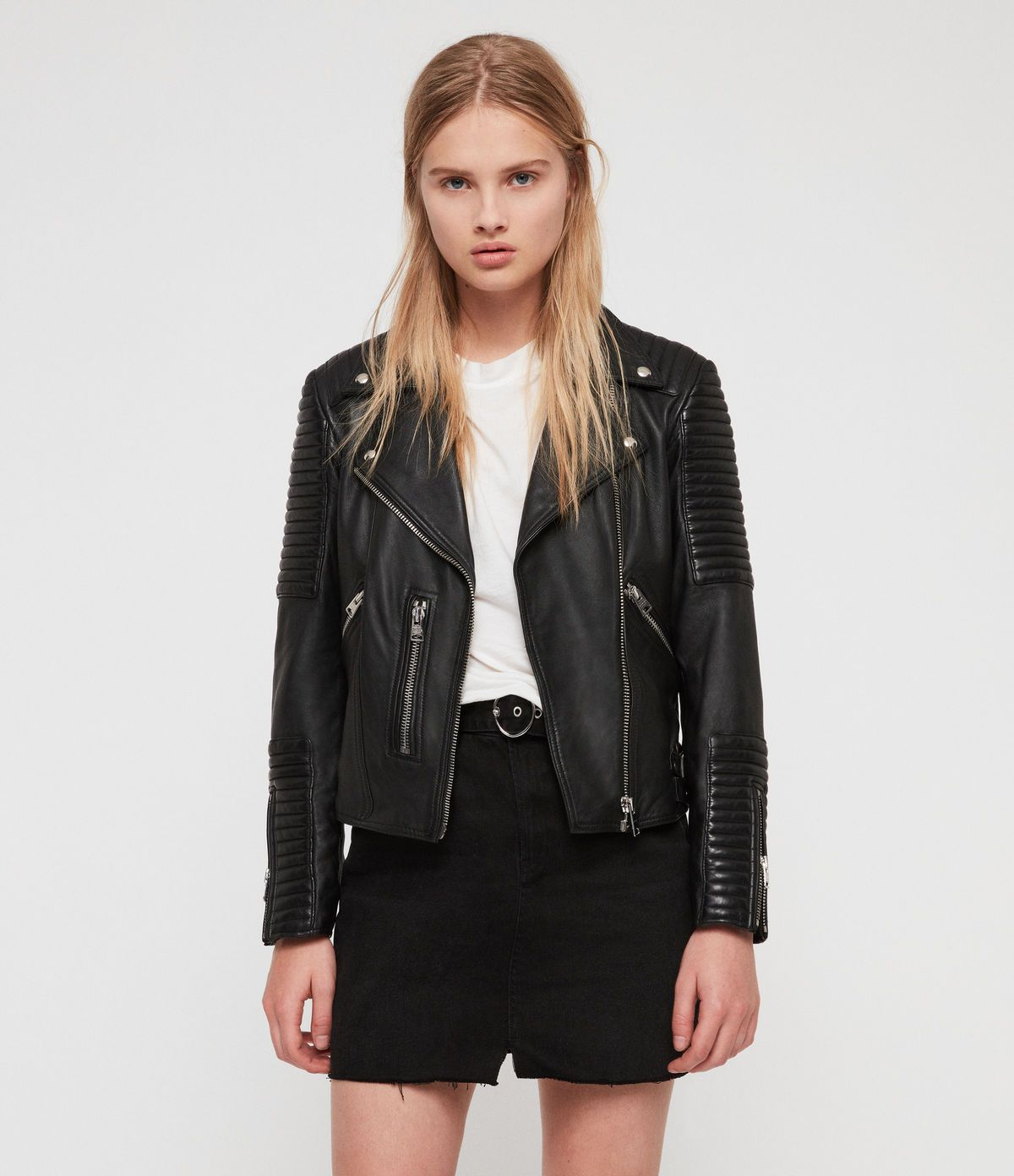 Estella Leather Biker Jacket Leather jackets women