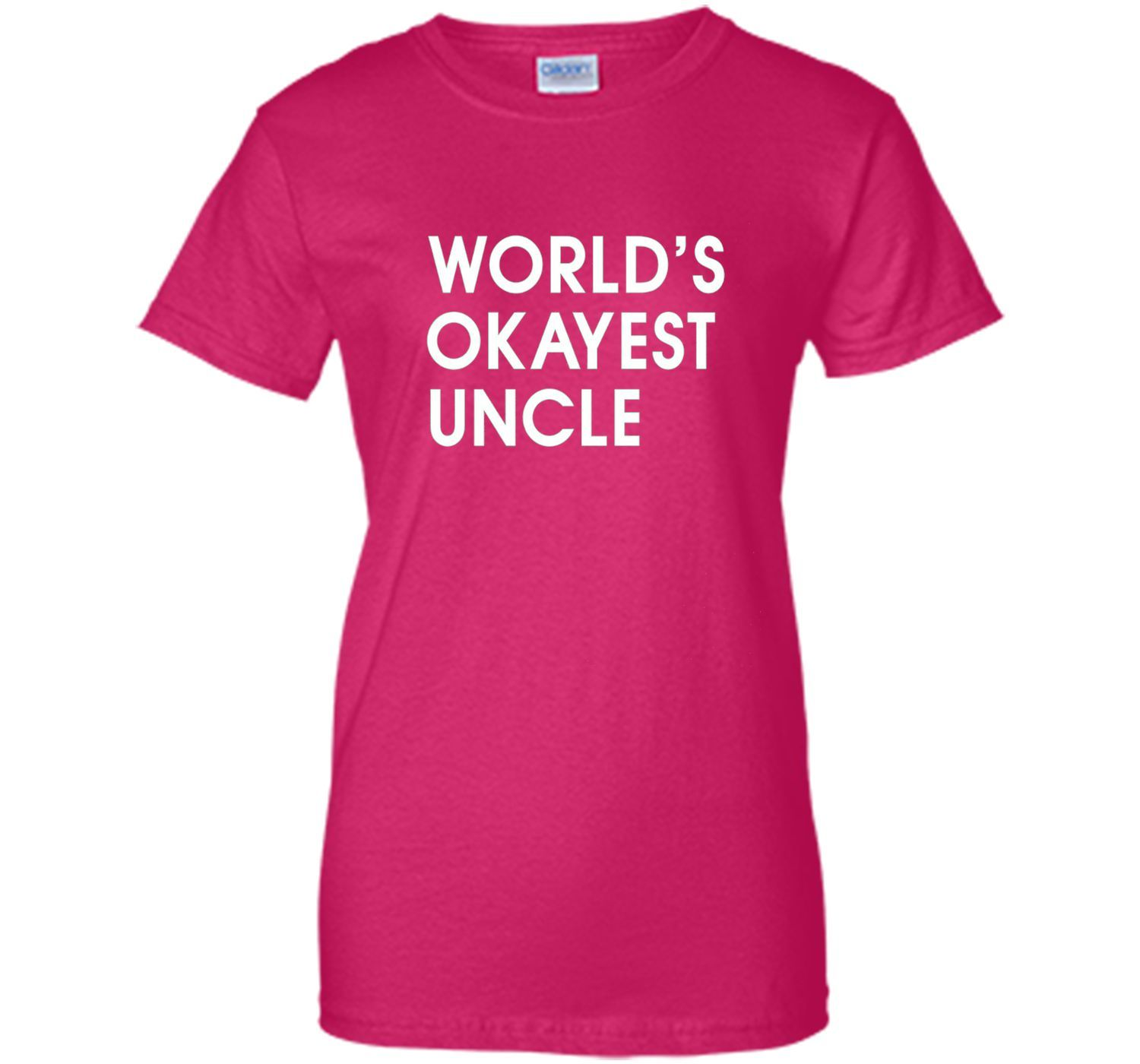 Men's World's Okayest Uncle T-Shirt Uncle 's Day Shirt Uncle Gift