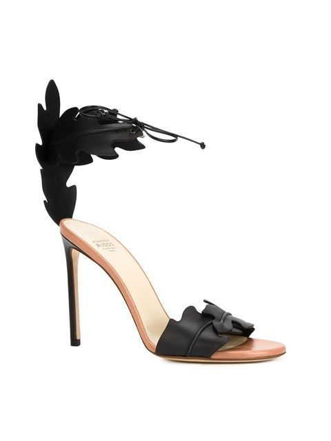 Francesco Russo leaf stiletto sandals
