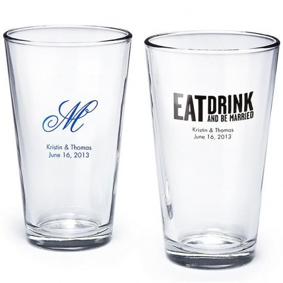 Wedding Pint Glass Favor Just A Possibility Pint Glass