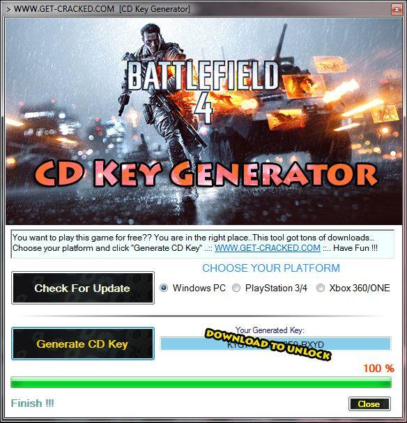 battlefield 4 product key free