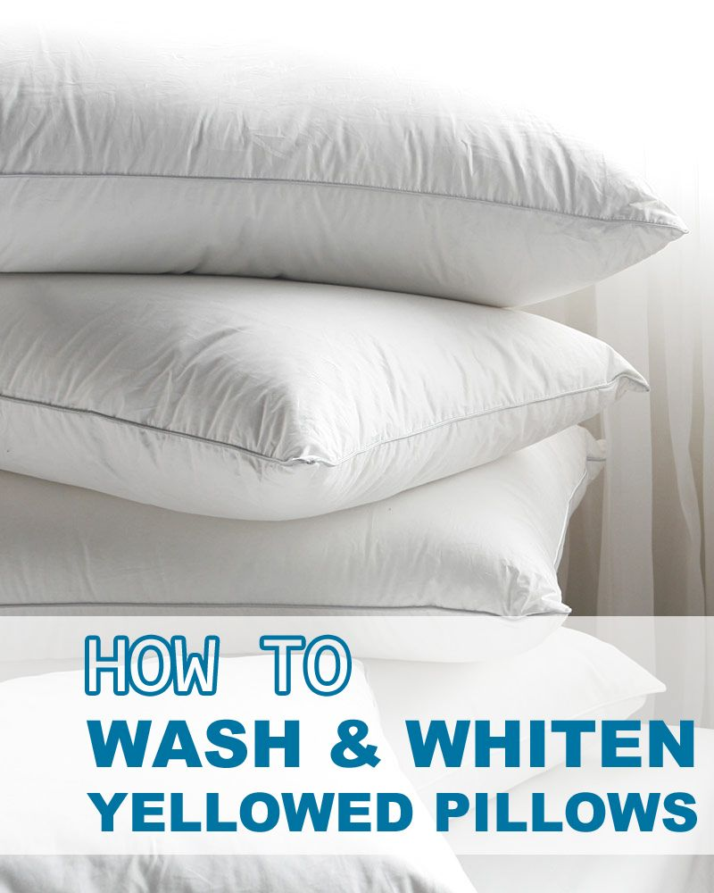 How to Wash & Whiten Yellowed Pillows Pillows, Wash