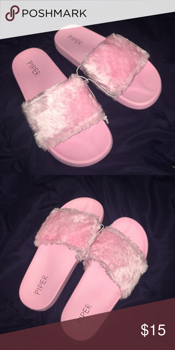 check out c0ed3 9be90 Pink slides Very soft looks like puma fenty Shoes Slippers ...