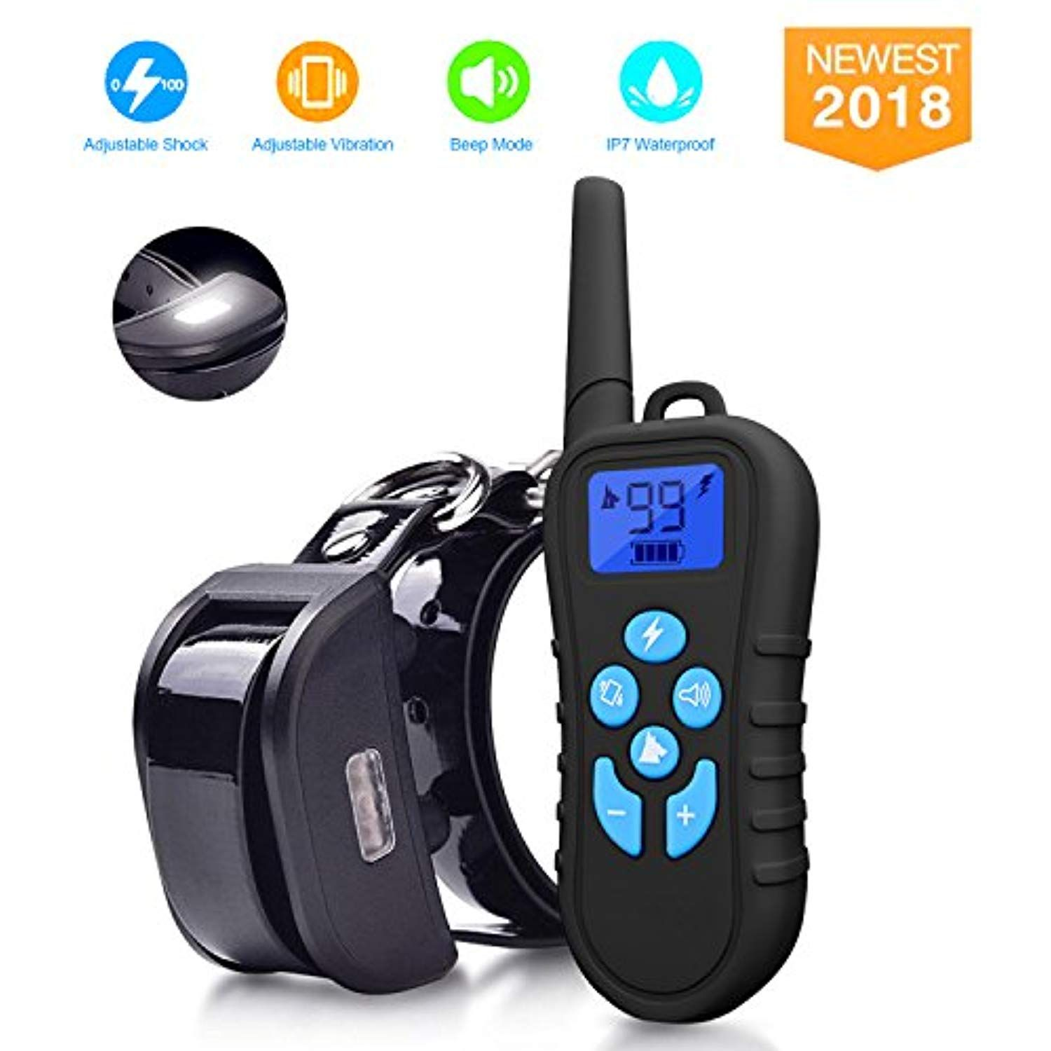 Dog Shock Collar With Remote 1500ft Shock Collar For Dogs Ipx7