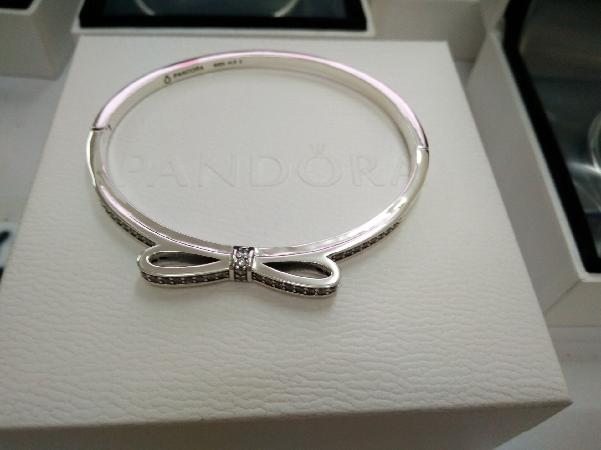 dd16ca17c ... ring Pandora butterfly tie bangle bracelet pure 925 sterling silver  Comes with pandora gift box how to .