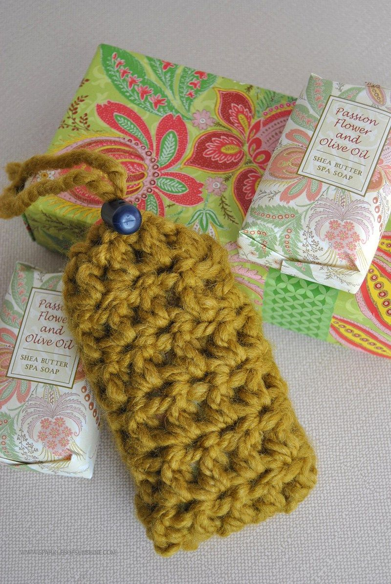 Crochet Soap Saver Pouch Pattern | Free crochet pattern ...