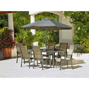 buy amalfi 6 seater patio furniture dining set at argoscouk your