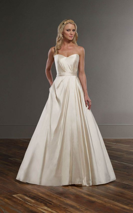 656 Designer A-Line Bridal Gown by Martina Liana