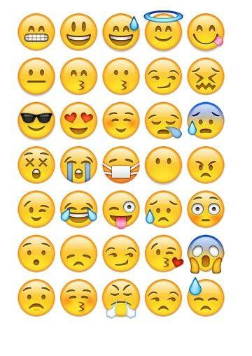 Comprehensive image in printable emojis pdf