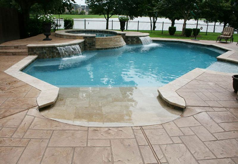 Forget The Hot Tub Waterfall Feature Walk In Pool With