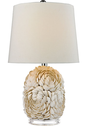 Elk Group International D2655 Windley Natural Shell Table Lamps With White And Off White Natural Shells Coastal Style Tab Table Lamp Natural Table Lamps Lamp