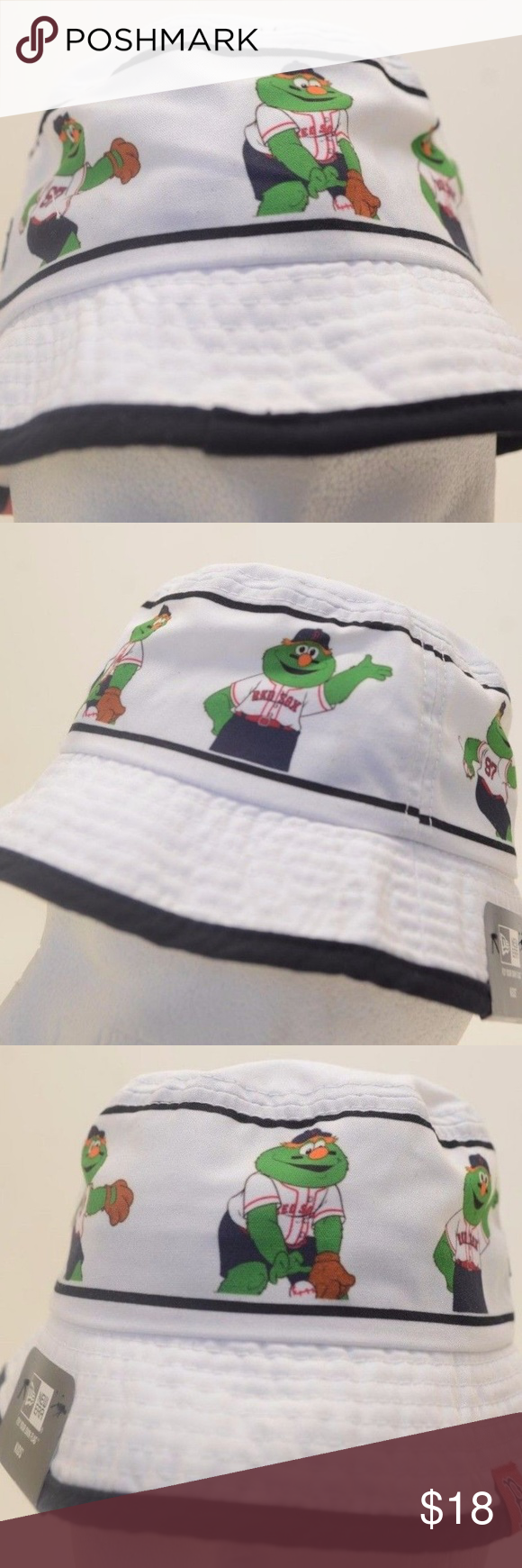 Kids MLB Boston Red Sox Bucket Hat Wally New Era Toddler Brand New Era  Size TODDLER 100%Authentic Stock 1856 New Era Accessories Hats bf5af7ea1e81