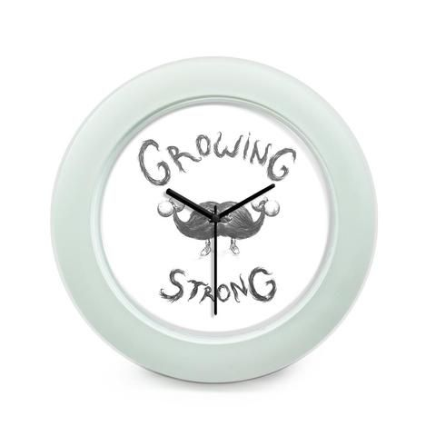 BigOwl | Growing Strong Quirky Moustache Illustration  Table Clock Online India…