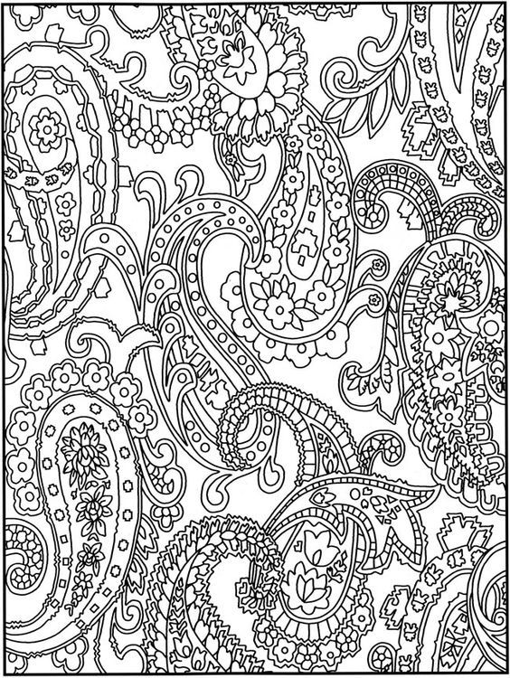 Check Out This Cool Looking Paisley Pattern Inspired Adult Coloring Page You Can Do Some
