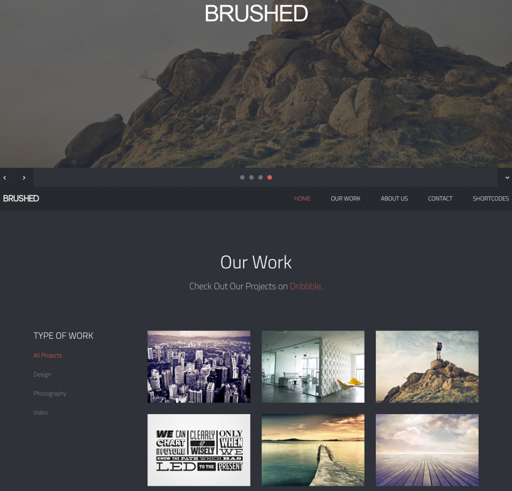 Brushed: Responsive One Page Template | Design development, Template ...