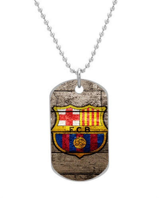 NEW FC BARCELONA FC SOCCER Custom Unique Oval Dog Tag Pet Tag Necklace Pendant