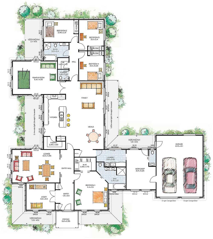 Nsw Qld Vic Australia House Plans Australia Dream House Plans Home Design Floor Plans
