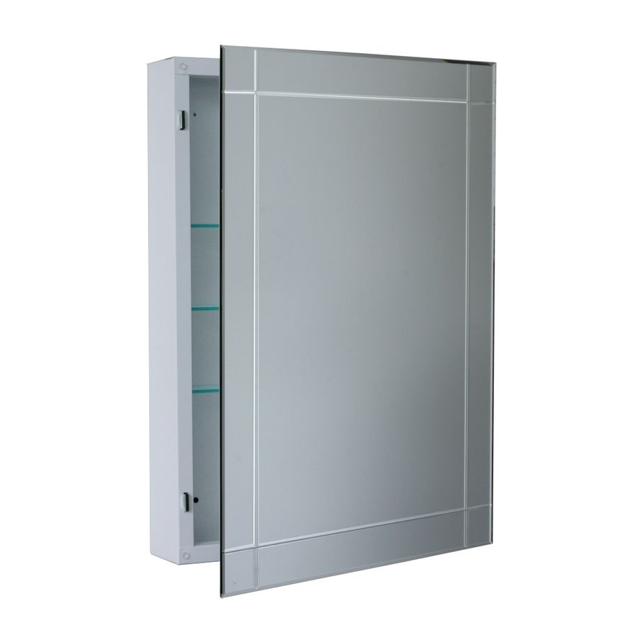 Lowes Medicine Cabinets With Lights Brilliant Shop Allen  Roth 2225In X 3025In Rectangle Surface Aluminum Design Ideas