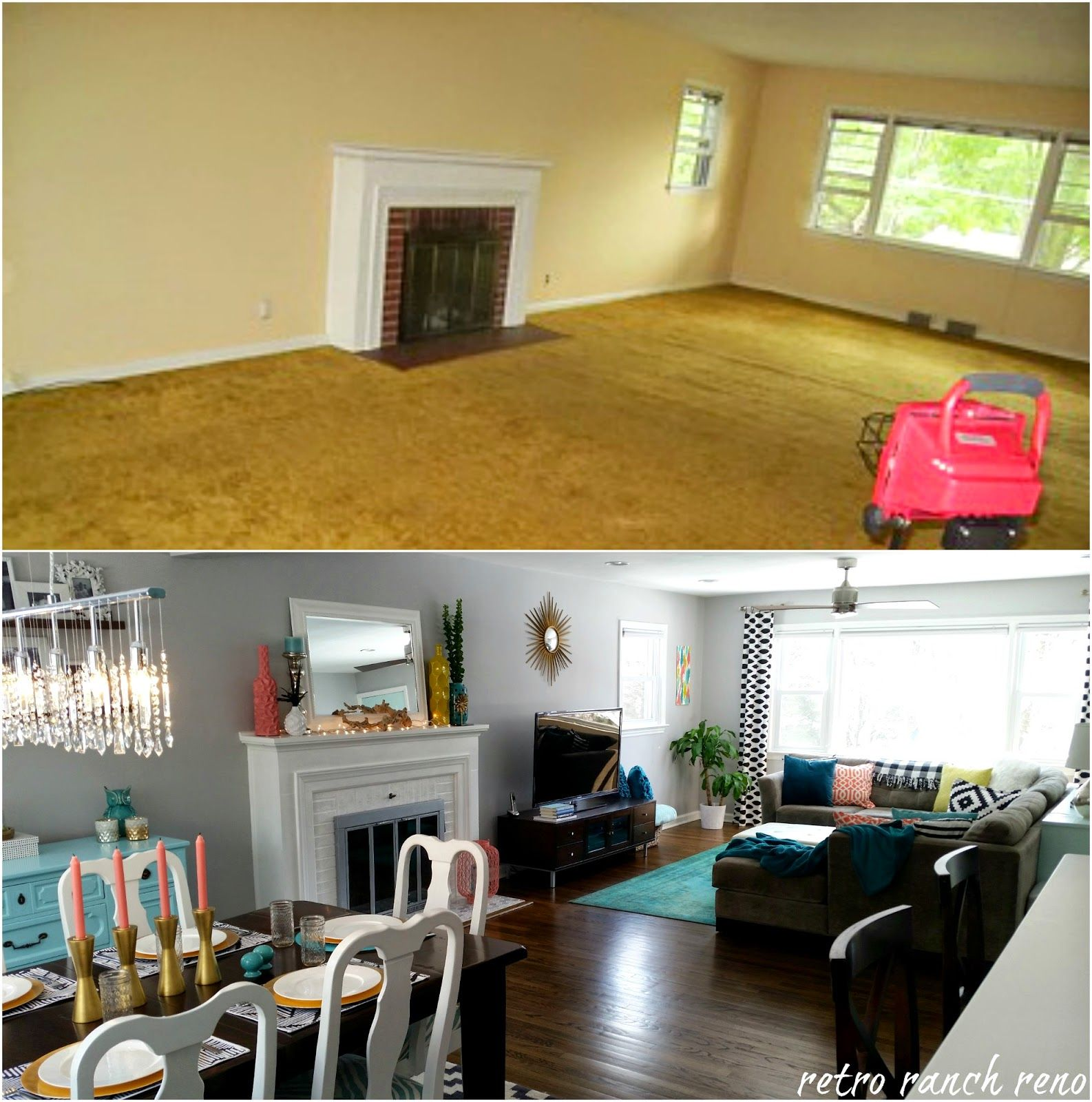 Our Rancher: Before & After - The Dining Room.