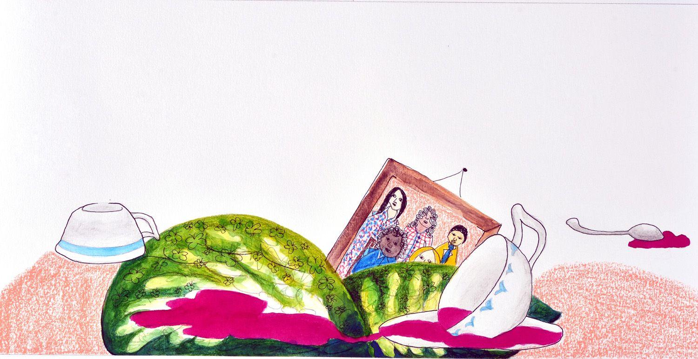 ilustração de Clarice Cajueiro para o livro Judite quer chorar, mas não consegue!