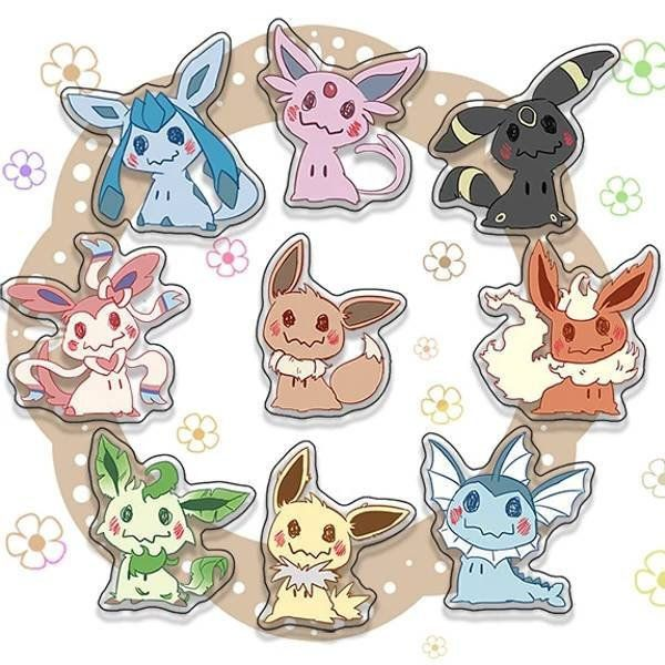 Pokemon Eeveelution Acrylic Keychain Decoration Display